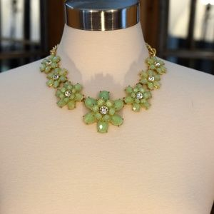*2 for 20* Mint Green Floral Statement Necklace